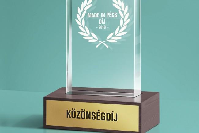 Made in Pécs-díj jelölést kaptunk!