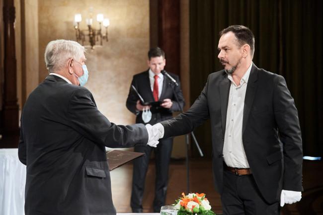 Vincze Balázs átvette kitüntetését