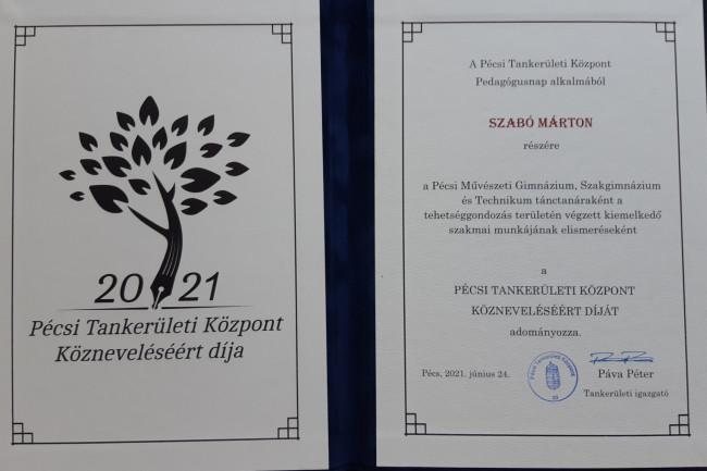 Szabó Mártont díjazták!